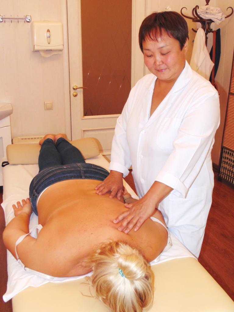 Классический массаж любань